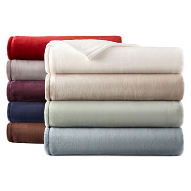 jcpenneycom jcpenney home velvet plush solid blanket