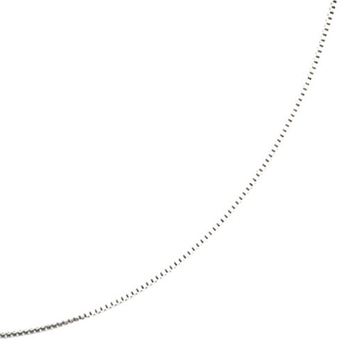 """Silver Reflections™ 16-24"""" Silver-Plated Box Chain"""