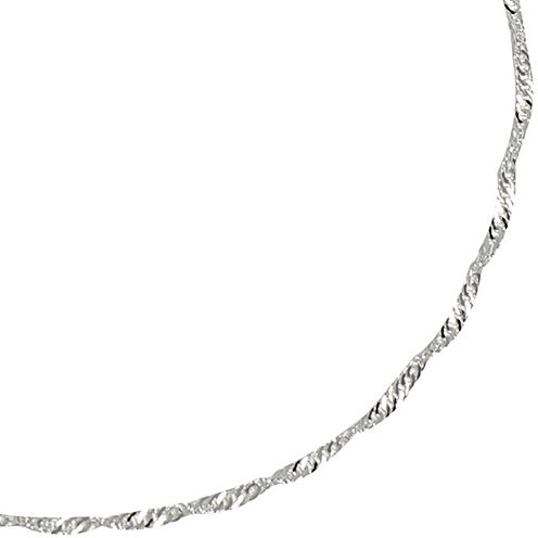 """Silver Reflections™ 16-24"""" Silver-Plated Singapore Chain"""