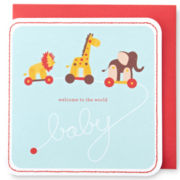 MarthaCelebrations™ Baby Shower Card – Animal Train