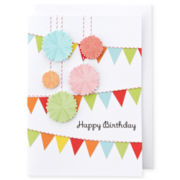 MarthaCelebrations™ Birthday Card – Glitter Poms
