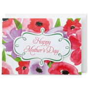 MarthaCelebrations™ Mother's Day Card – Watercolor Floral