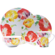 Jolly Poppy 16-pc. Dinnerware Set