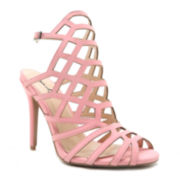 Qupid Ara 71 Caged High Heel Sandals