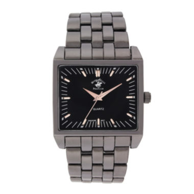 jcpenney.com | Beverly Hills Polo Club Mens Gunmetal Bracelet Watches 1