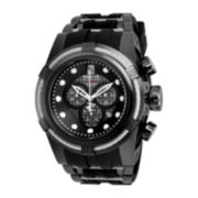Invicta® JT Mens Black Ion-Plated Stainless Steel Strap Watch