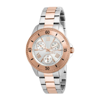 jcpenney.com | Invicta® Angel Womens 18K Rose Gold Ion Plated & Silver Stainless Steel Bracelet Watch