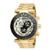 Invicta® Subaqua Mens Gold-Tone Over Stainless Steel Bracelet Watch