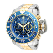 Invicta® Reserve Sea Hunter Mens 18K Gold-Plated Bracelet Watch