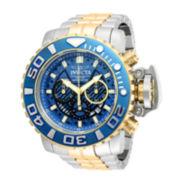 Invicta® Reserve Sea Hunter Mens 18K Gold-Plated Bracelet Watch