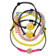 Carole 5-pc. Emoji Bead Cord Charm Bracelet Set