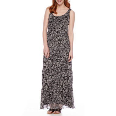 jcpenney.com | Black Label by Evan-Picone Tiered Chiffon Maxi Dress