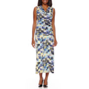 Evan-Picone Sleeveless Print Blouse or A-Line Print Maxi Skirt