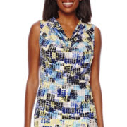 Evan-Picone Sleeveless Print Blouse