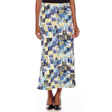 jcpenney.com | Evan-Picone Geo Square Print Maxi Skirt