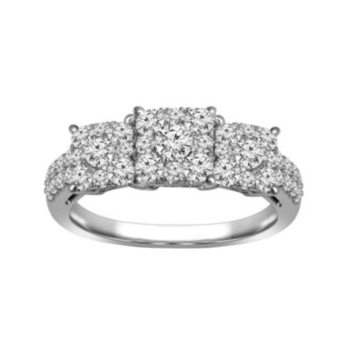 jcpenney.com | LIMITED QUANTITIES 3/4 CT. T.W. Diamond 10K White Gold Engagement Ring