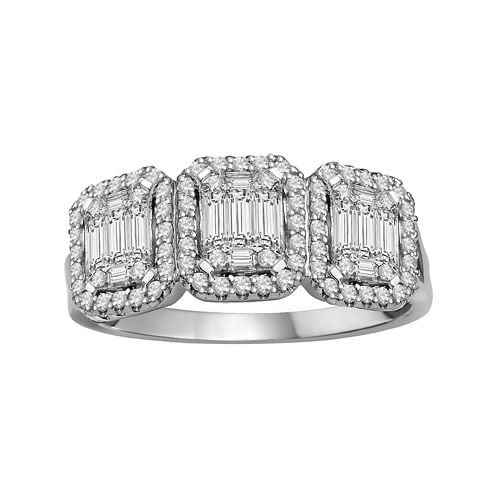 LIMITED QUANTITIES  3/4 CT.T.W. Diamond 14K White Gold Ring