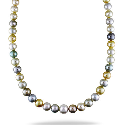 """9-12mm Genuine South Sea &Tahitian Pearl 18"""" Strand Necklace"""