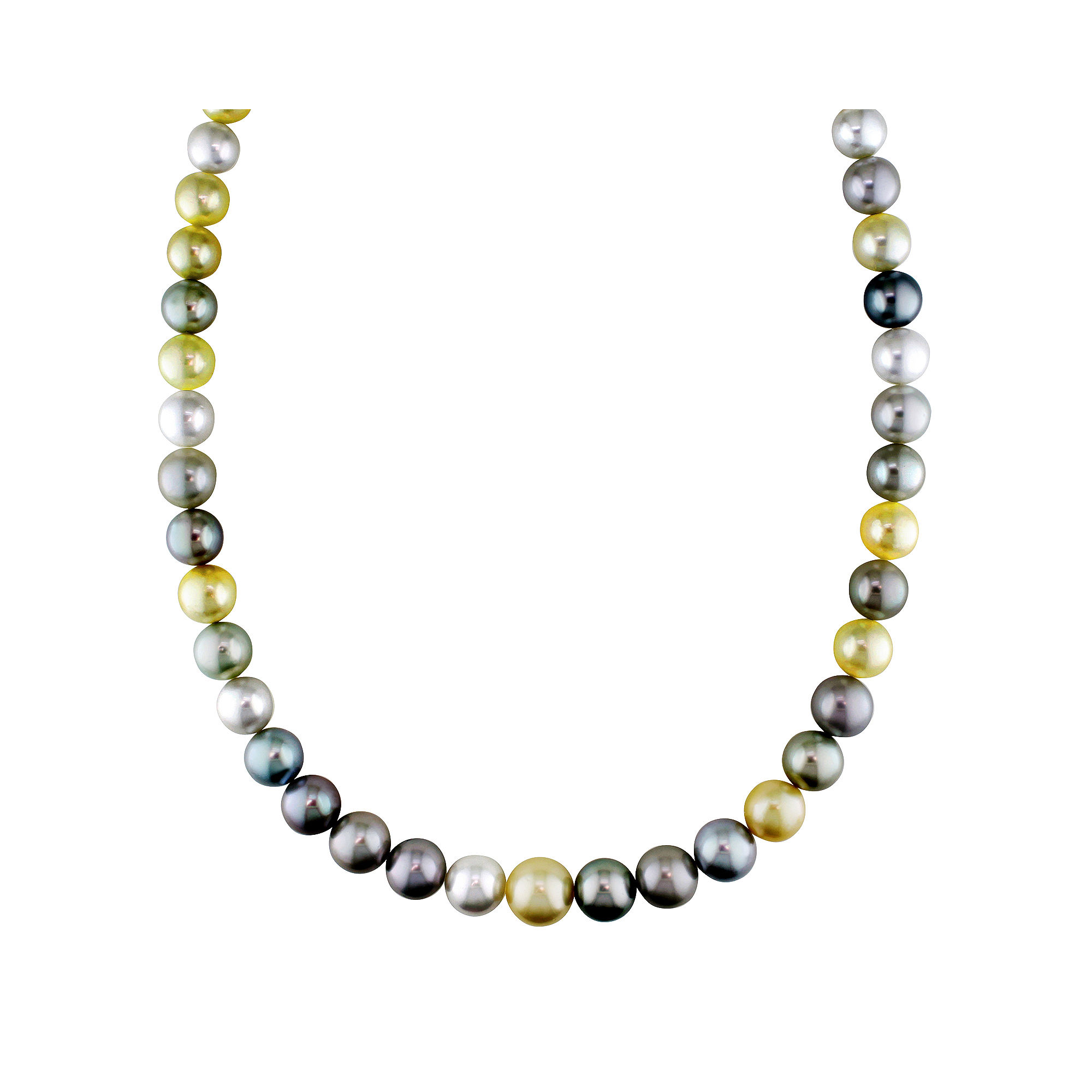"""9-12mm Genuine South Sea & Tahitian Pearl 18"""" Strand Necklace"""