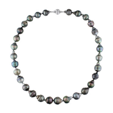 jcpenney.com | 10-11mm Genuine Black Tahitian Pearl Necklace