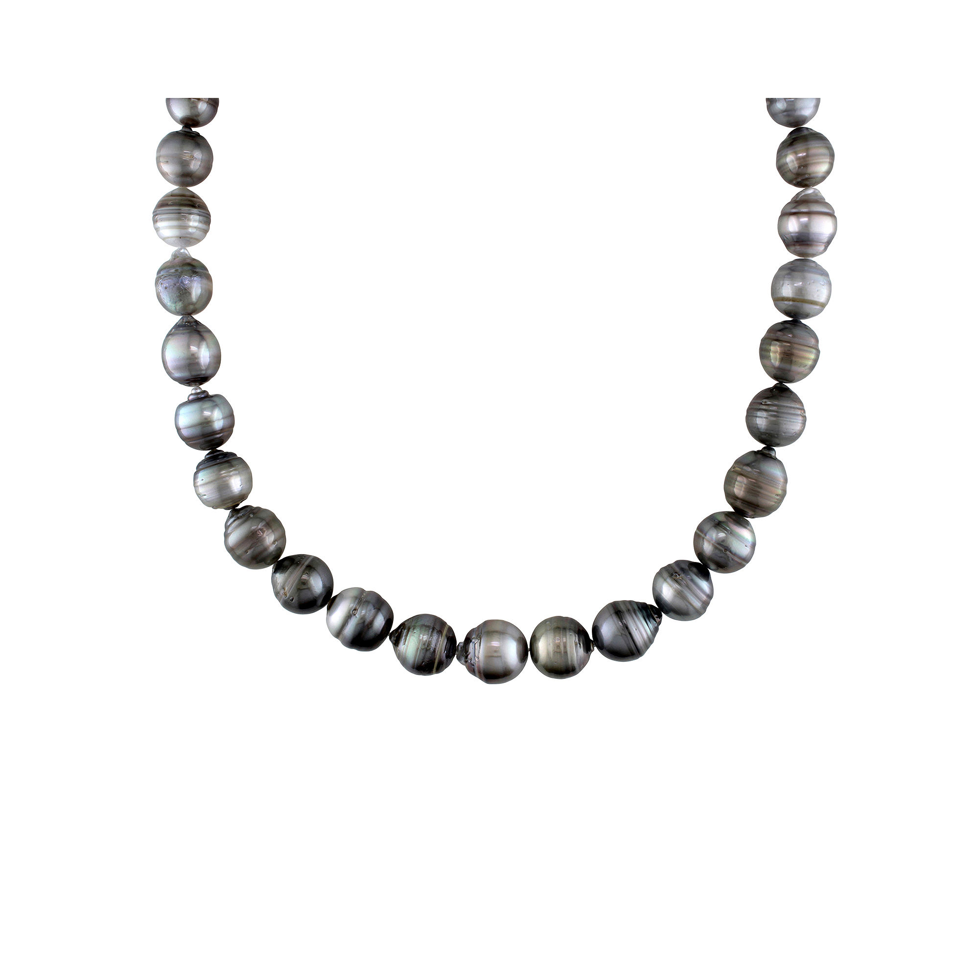 9-12mm Genuine Black Tahitian Pearl Necklace