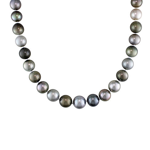 "10-13mm Genuine Multicolor Tahitian Pearl 18"" Strand"