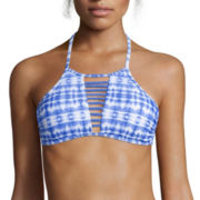 Arizona Take The Plunge Tie-Dyed Bralette Swim Top - Juniors