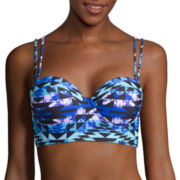 Arizona Cast A Spell Push-Up Midkini Swim Top - Juniors