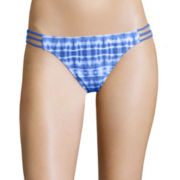 Arizona Take The Plunge Tie-Dyed Hipster Swim Bottoms - Juniors