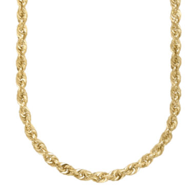 "jcpenney.com | Infinite Gold™ 14K Yellow Gold 22"" Hollow Rope Chain"