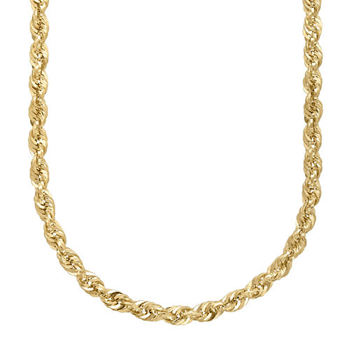 """Infinite Gold™ 14K Yellow Gold 22"""" Hollow Rope Chain"""