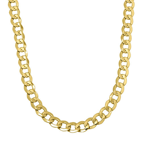 "Made in Italy 14K Yellow Gold 24""  Hollow Curb Chain"