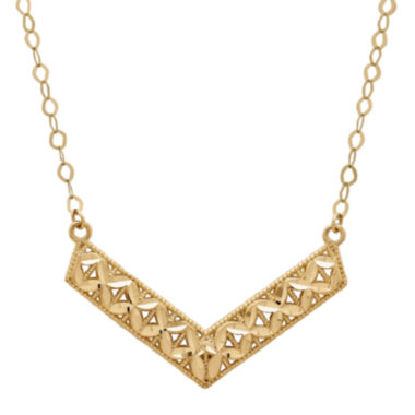 jcpenney.com | Infinite Gold™ 14K Yellow Gold Chevron Necklace