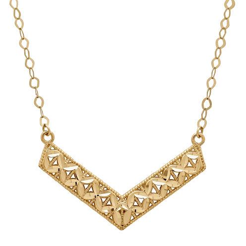 Infinite Gold™ 14K Yellow Gold Chevron Necklace