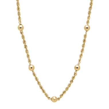 jcpenney.com | Infinite Gold™ 14K Yellow Gold Station Necklace