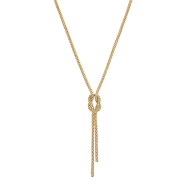 jcpenney.com | Infinite Gold™ 14K Yellow Gold Hollow Knot Lariat Necklace