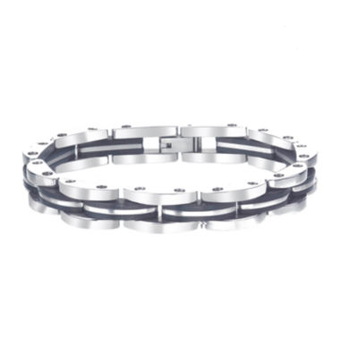 jcpenney.com | Mens Black IP Stainless Steel Chain Link Bracelet