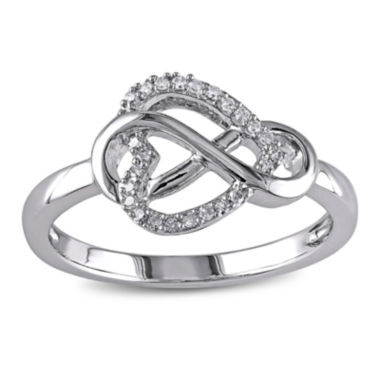 jcpenney.com | 1/10 CT. T.W. Diamond Sterling Silver Infinity Ring
