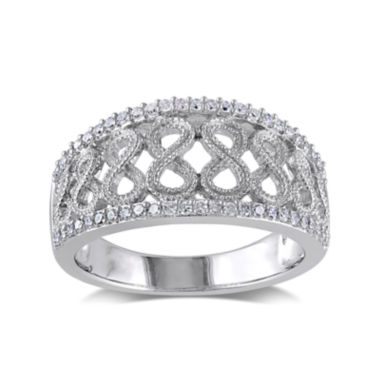 jcpenney.com | 1/4 CT. T.W. Diamond Sterling Silver Infinity Symbol Ring