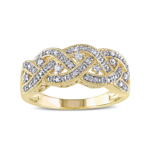 1/8 CT. T.W. Diamond Yellow Gold Over Silver Ring