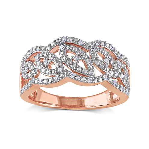 1/5 CT. T.W. Diamond Rose Gold Over Silver Ring