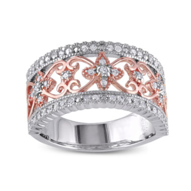 jcpenney.com | 1/7 CT. T.W. Diamond Two-Tone Sterling Silver Ring