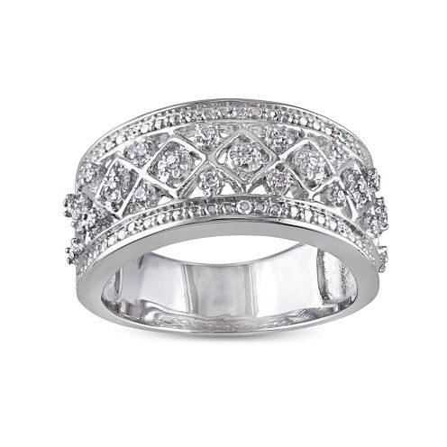 1/7 CT. T.W. Diamond Sterling Silver Ring