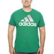 adidas® Adilogo Short-Sleeve Graphic Tee - Big & Tall