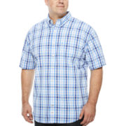 IZOD® Saltwater Short-Sleeve Poplin Shirt - Big & Tall