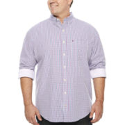IZOD® Saltwater Long-Sleeve Poplin Shirt - Big & Tall