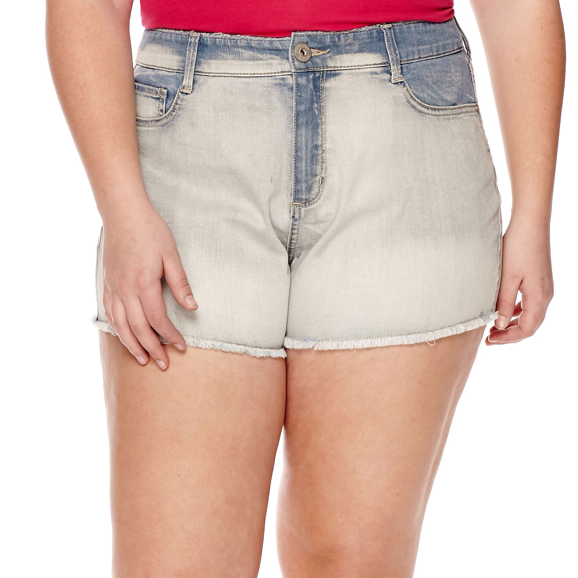 Arizona High-Rise Shorts - Juniors Plus plus size,  plus size fashion plus size appare