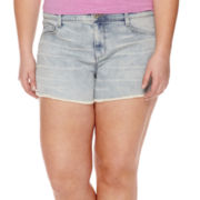 Arizona Raw-Hem Shorts- Juniors Plus