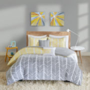 Intelligent Design Kennedy Chevron Comforter Set