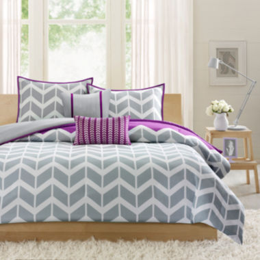 jcpenney.com | Intelligent Design Peyton Chevron Duvet Cover Set
